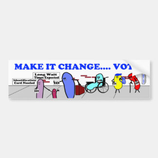 """Fudsy Faces""-""Make it Change""-Bumper Sticker Car Bumper Sticker"