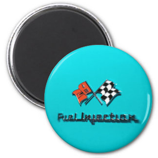 Fuel Injection Badge 6 Cm Round Magnet