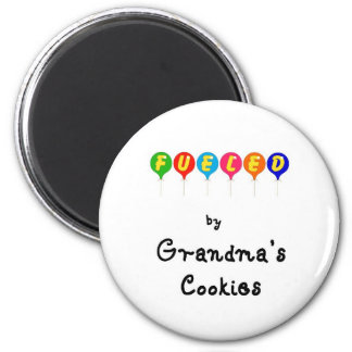 Fueled by Gramma's Cookies 6 Cm Round Magnet