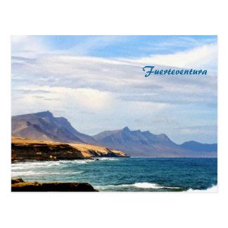 Fuerteventura, painting effect postcard