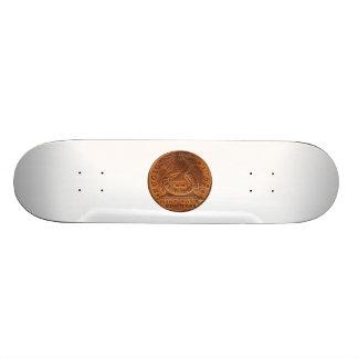 Fugio Cent Mind Your Business Copper Penny 18.1 Cm Old School Skateboard Deck