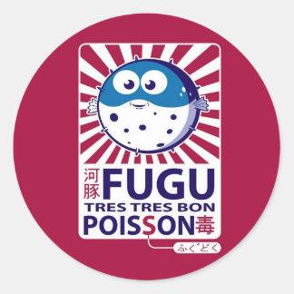 Fugu Classic Round Sticker