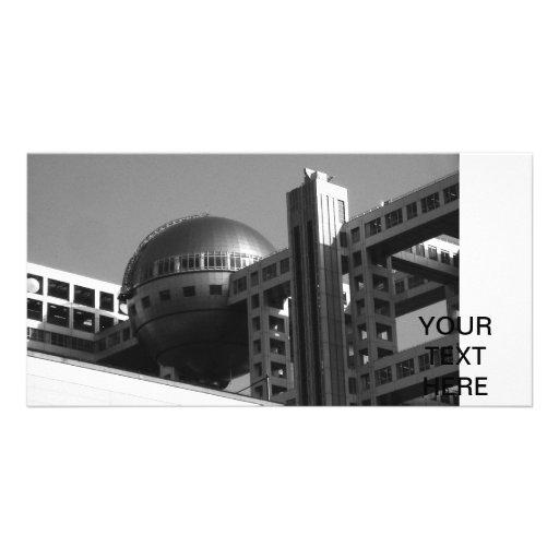 Fuji Building Modern Tokyo Personalized Photo Card