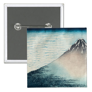 Fuji in Clear Weather' 15 Cm Square Badge