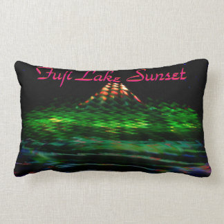 Fuji Lake Sunset Pillow Cushion