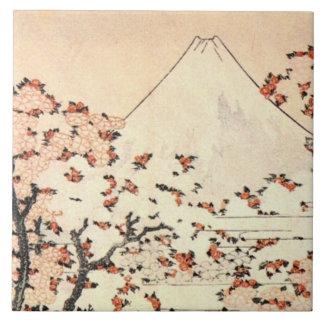 Fuji over Sakura Ceramic Tile