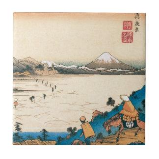 Fuji san in Japan Tile