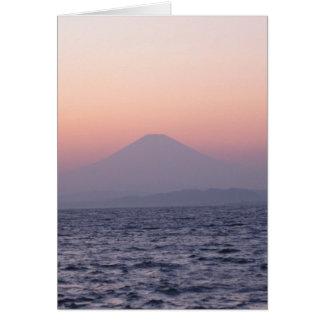 Fuji-san-sunset-blank Greeting Card