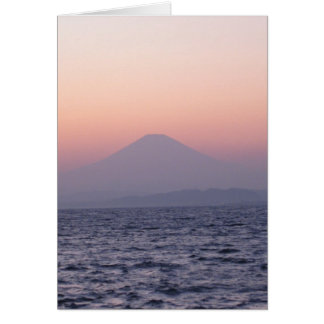 Fuji-san-sunset-NY-akemashita Note Card