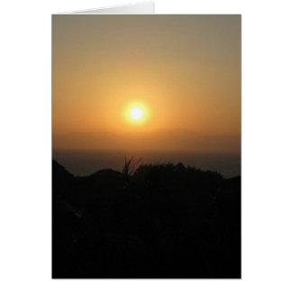 Fuji-san-sunset-yellow Stationery Note Card