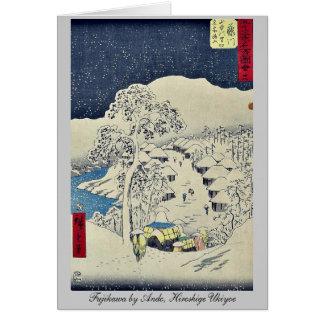 Fujikawa by Ando, Hiroshige Ukiyoe Card