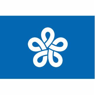 Fukuoka Prefecture, Japan flag Photo Cutouts