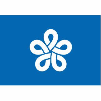 Fukuoka Prefecture, Japan flag Standing Photo Sculpture
