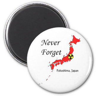 Fukushima, Japan Nuclear Disaster 6 Cm Round Magnet