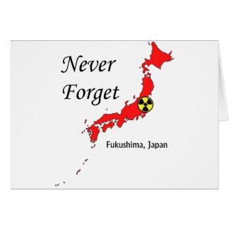 Fukushima, Japan Nuclear Disaster Greeting Card