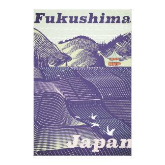 Fukushima, Japanese vintage travel poster Canvas Print