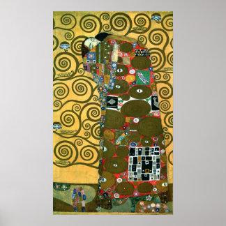 Fulfillment aka The Embrace by Gustav Klimt Poster