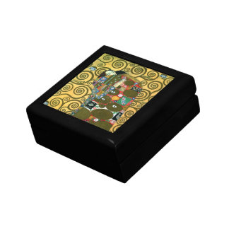Fulfillment aka The Embrace by Gustav Klimt Small Square Gift Box