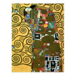 Fulfillment The Embrace by Gustav Klimt Post Cards