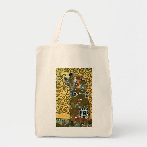 Fulfilment (The Embrace) by Gustav Klimt Grocery Tote Bag