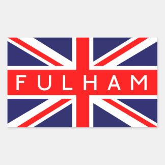 Fulham : British Flag Rectangular Sticker