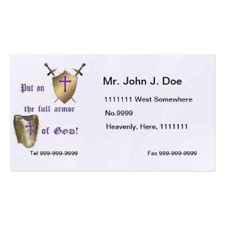 Full Armor of God Business Card Templates