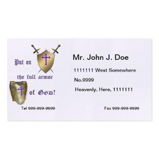 Full Armor of God Business Card Templates