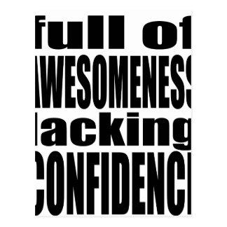 full awesomeness lacking confidence black motivati postcard