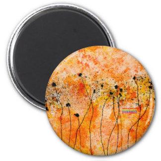 Full Bloom 6 Cm Round Magnet