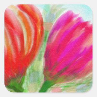 Full Bloom Square Sticker