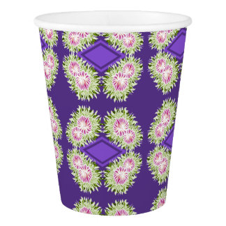Full Blossom Pattern Paper Cup