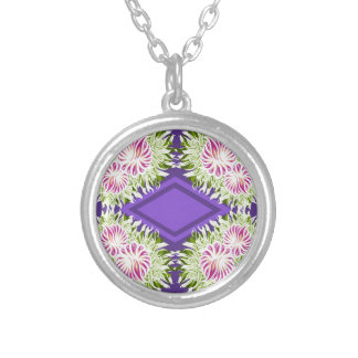 Full Blossom Pattern Silver Plated Necklace