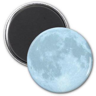 Full Blue Moon 6 Cm Round Magnet