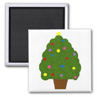 Full Christmas tree magnet