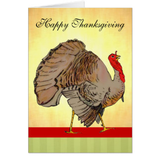 Full Color Thanksgiving Turkey Greeting Card