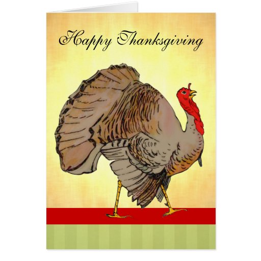 Full Color Thanksgiving Turkey Cards