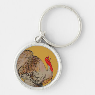 Full Color Thanksgiving Turkey Key Chain