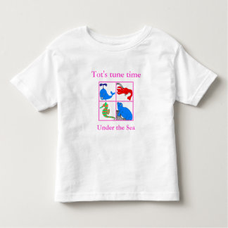 full colour seahorsesmallcollage-2, Tot's tune ... Toddler T-Shirt