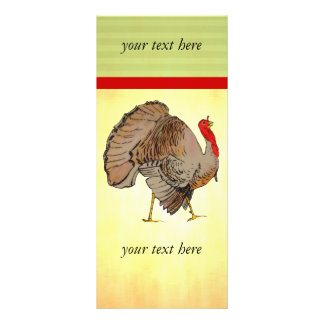 Full Colour Thanksgiving Turkey Personalised Rack Card