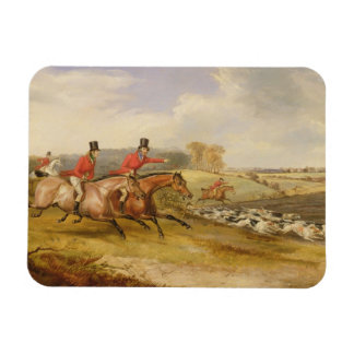 Full Cry, Bachelor's Hall, 1835 (oil on canvas) Rectangular Photo Magnet