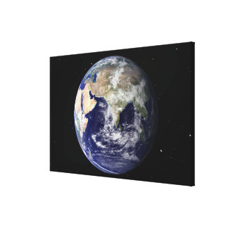 Full Earth showing Europe and Asia 2 Canvas Print