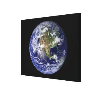 Full Earth showing North America 3 Canvas Print