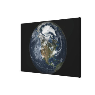Full Earth showing North America 5 Canvas Print