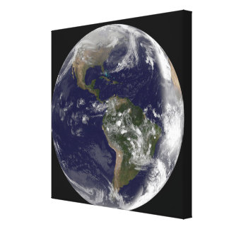 Full Earth showing North America and South Amer 7 Canvas Print
