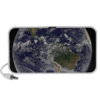 Full Earth showing North America and South Amer Speaker