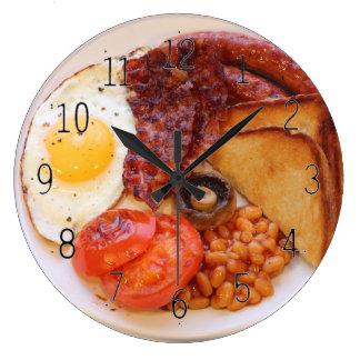 Full English breakfast novelty clock