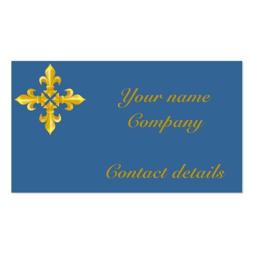 Full Fleur-de-lis Business Card Template