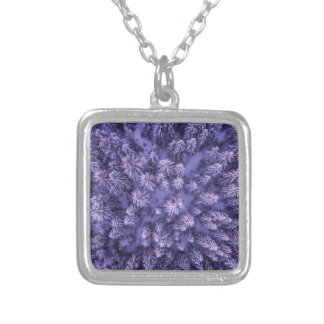 Full Frame Shot of Leaves Silver Plated Necklace