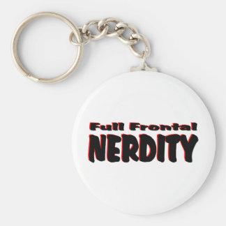 Full Frontal Nerdity #2 Basic Round Button Key Ring