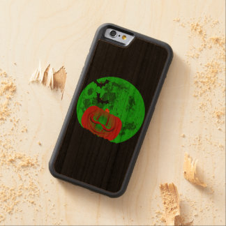 Full Halloween Moon Carved Cherry iPhone 6 Bumper Case
